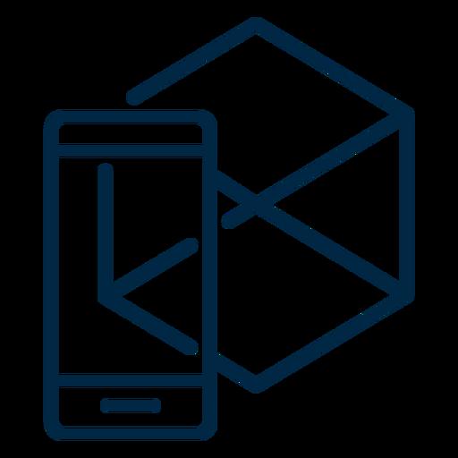 Icono de trazo de realidad virtual Transparent PNG
