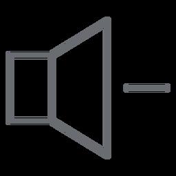 Icono de movimiento hacia abajo del volumen