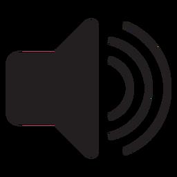 Icono plano de la interfaz de volumen