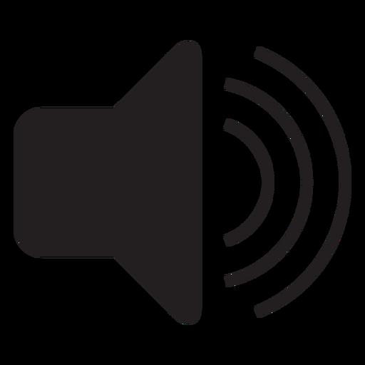 Ícone plana de interface de volume Transparent PNG