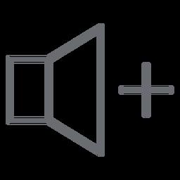 Icono de movimiento hacia arriba del volumen