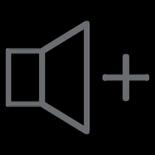 Ícone de traço de volume para cima Transparent PNG