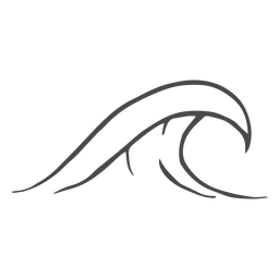 Mão de onda de água desenhada