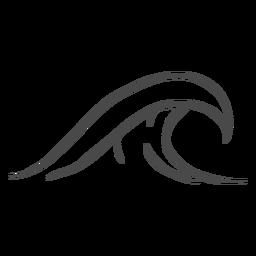 Wasserwelle Hand gezeichnet