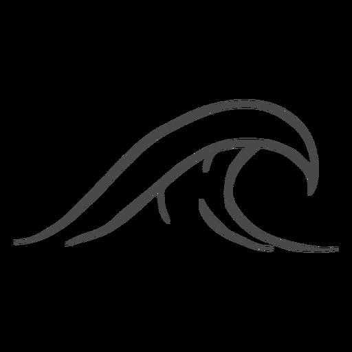 Mão de onda de água desenhada Transparent PNG