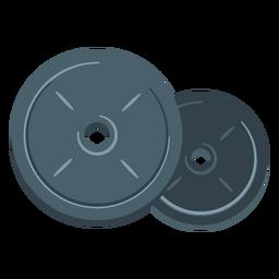 Icono de placas de peso