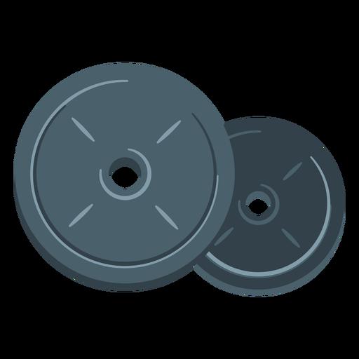 Icono de placas de peso Transparent PNG