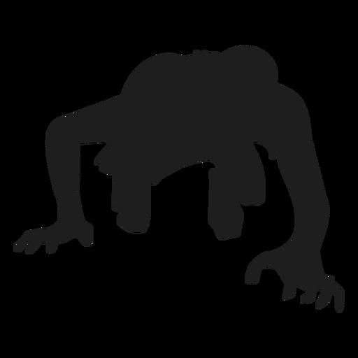 Zombie arrastrando silueta