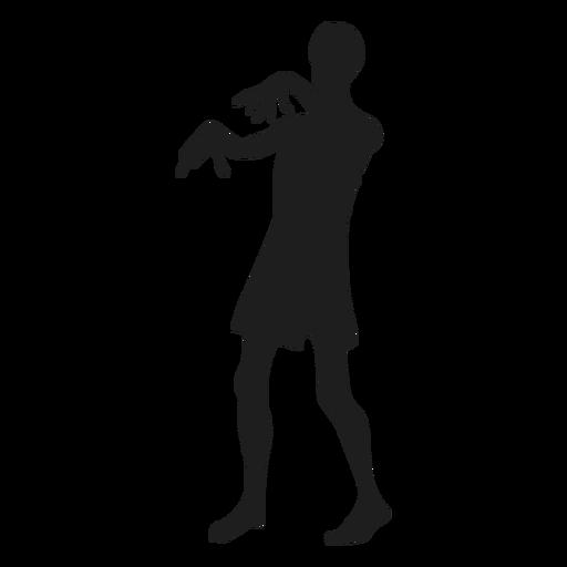 Silueta de criatura zombie Transparent PNG