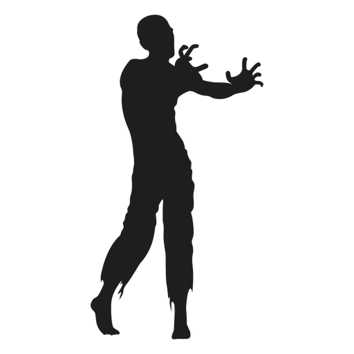Zombie reaching out silhouette