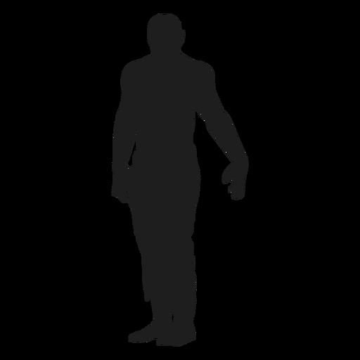Zombie de pie silueta Transparent PNG