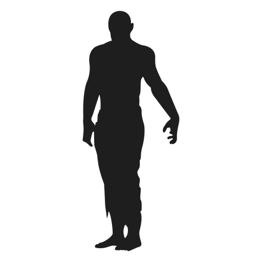 Zombie standing silhouette