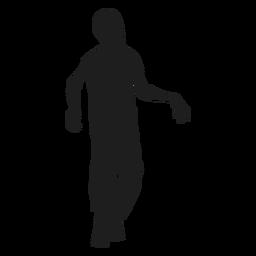 Zombie caminando silueta