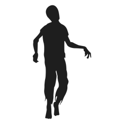 Zombie walking silhouette