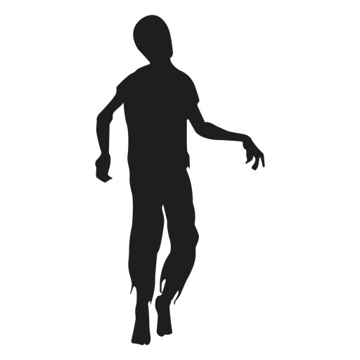 Zombie walking silhouette Transparent PNG