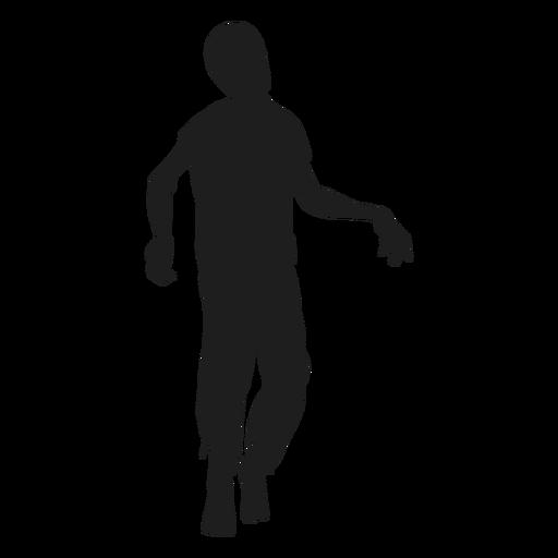 Zombie walking silhouette