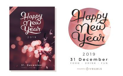 Artistic New Year Party Design