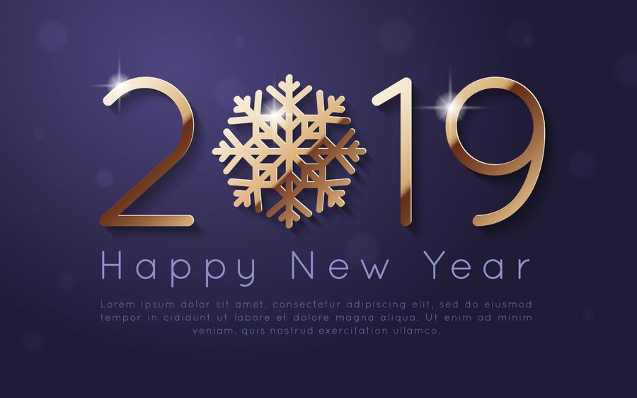 Año nuevo 2019 diseño de fondo