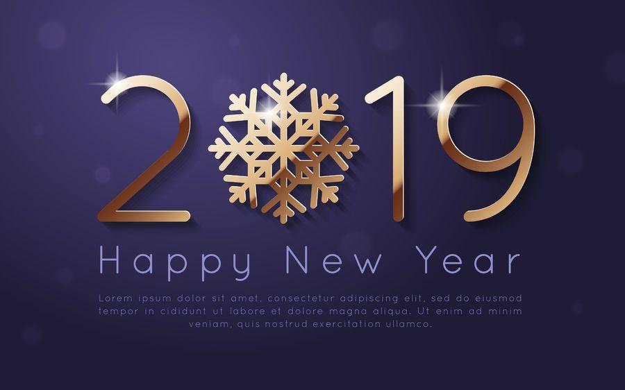 Diseño de fondo de año nuevo 2019