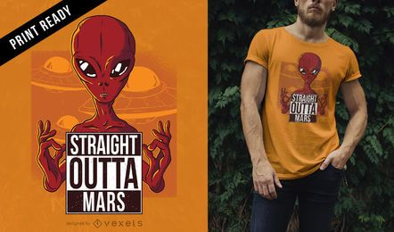 Straight outta Mars t-shirt design
