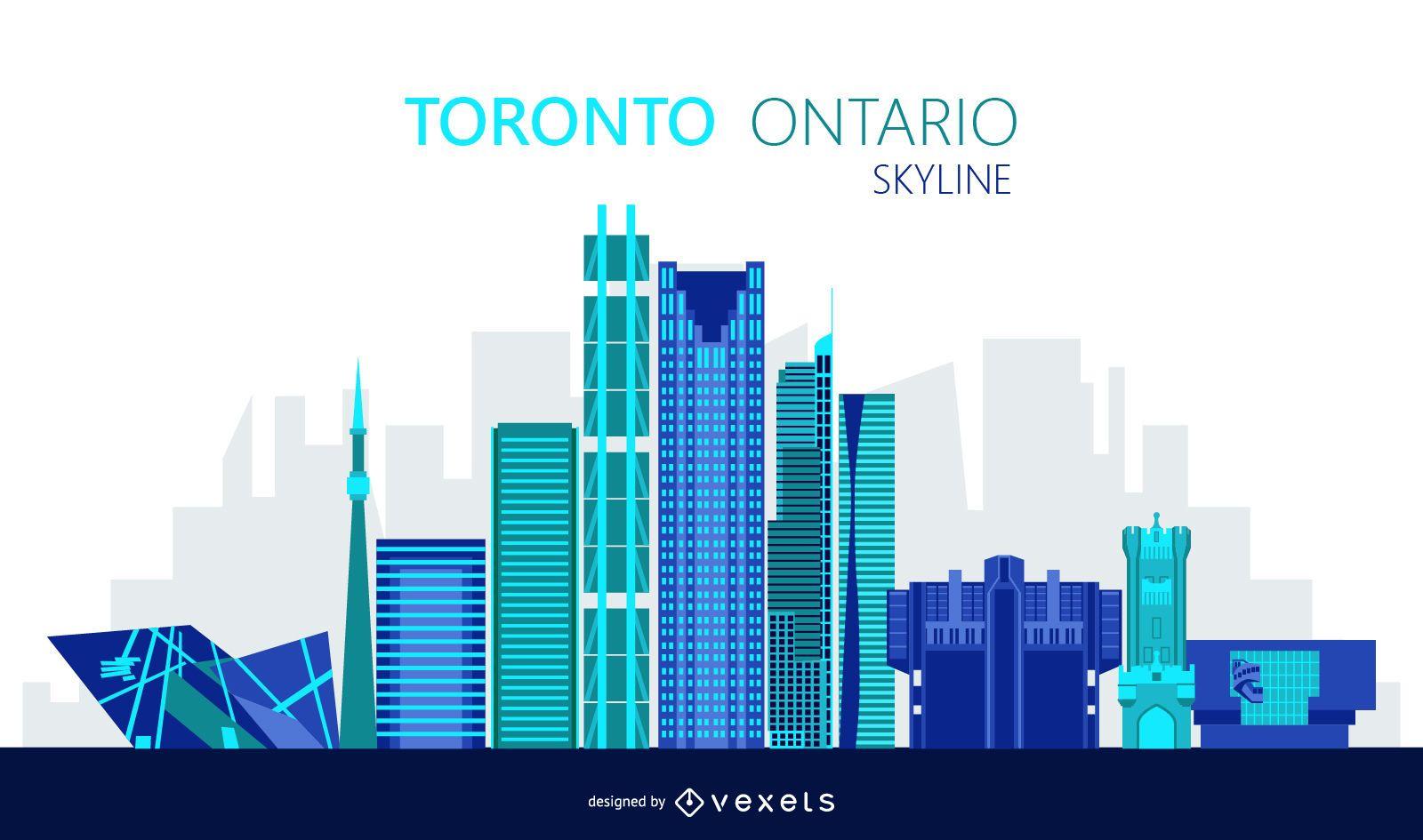 Toronto skyline illustration
