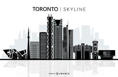Silueta de horizonte de Toronto