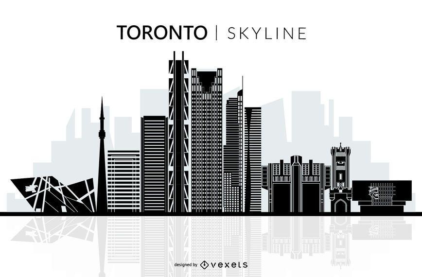 Silhueta de horizonte de Toronto