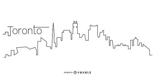 Toronto Skyline-Gliederung