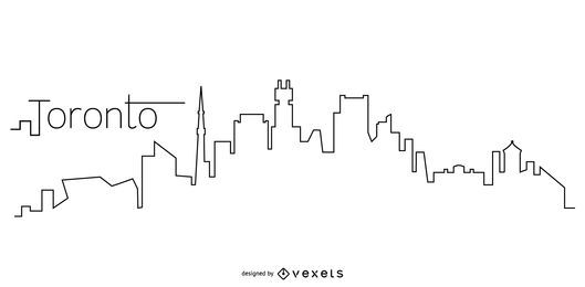 Toronto skyline outline