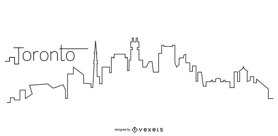 Toronto skyline outline