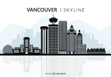 Silhueta do horizonte de Vancouver