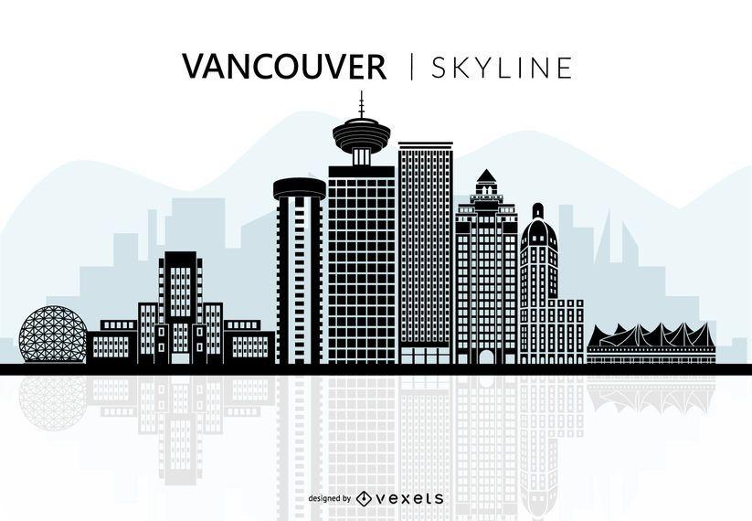 Vancouver Skyline-Silhouette