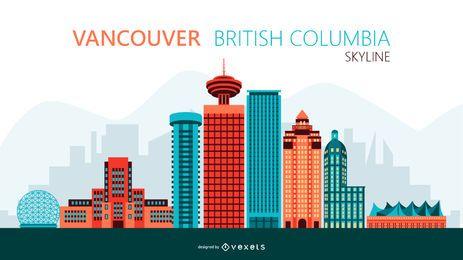 Ilustração do horizonte de Vancouver
