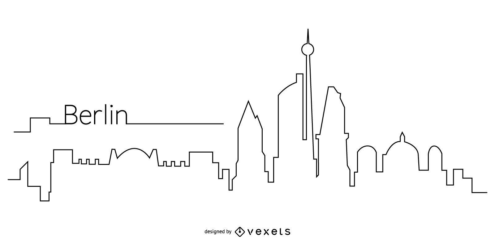 Berlin skyline outline