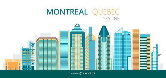 Ilustração do horizonte de Montreal