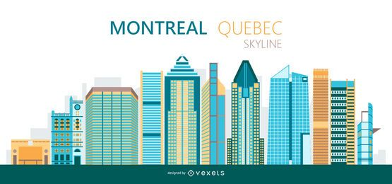 Montreal skyline illustration