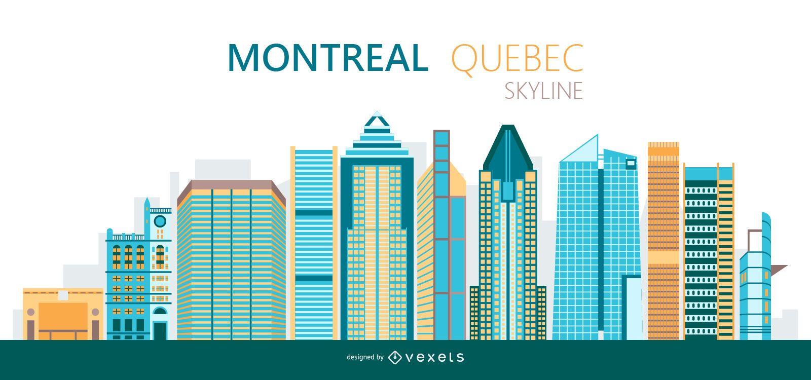 Montreal skyline illustration
