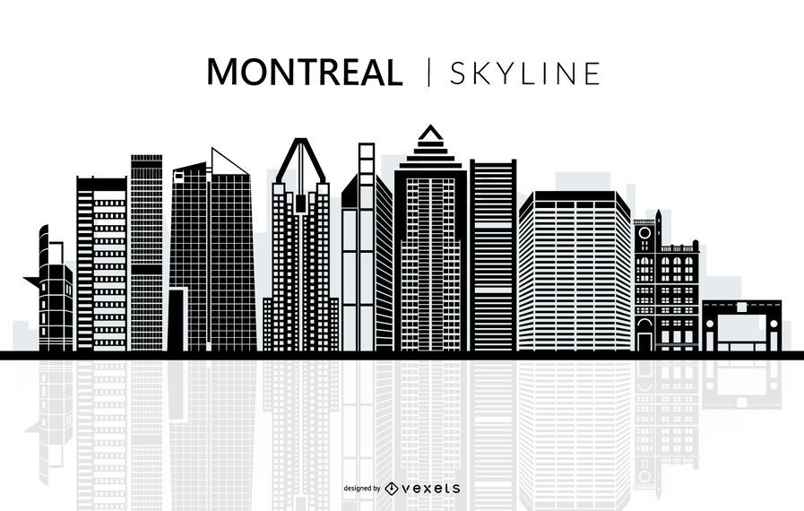 Montreal Skyline Silhouette
