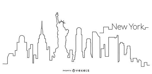 New York skyline outline