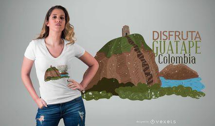 Projeto do t-shirt de Guatape Colômbia