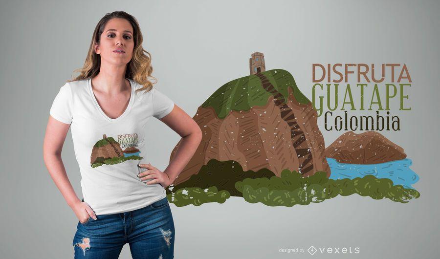Diseño de camiseta de Guatape Colombia.