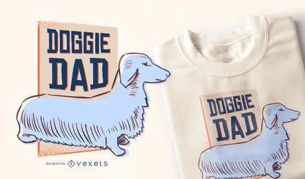 Diseño de camiseta de papá perrito