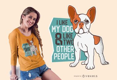 I love my dog t-shirt design