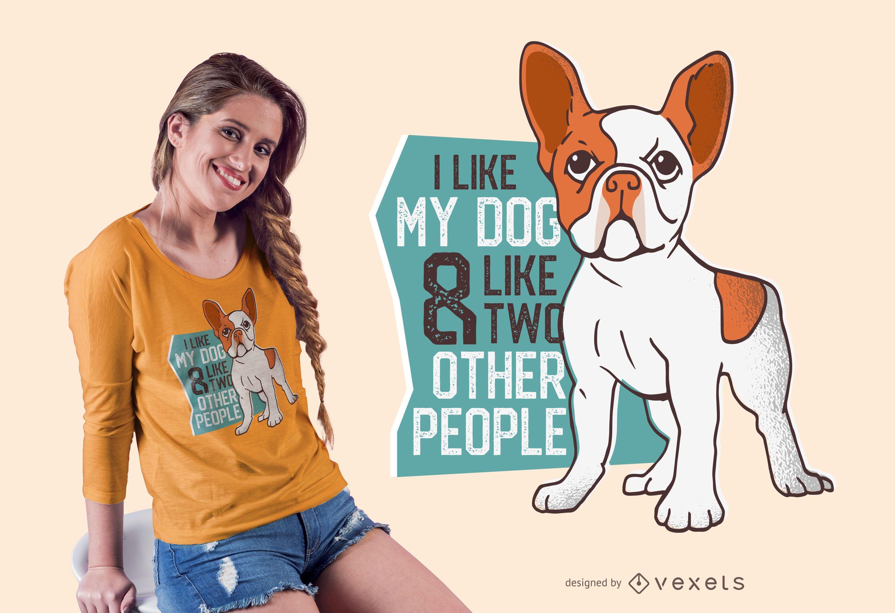 Amo el diseño de camiseta de mi perro
