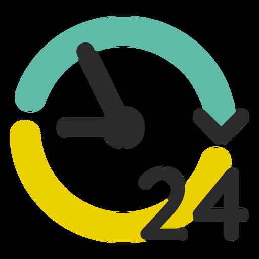 Curso colorido de serviço 24 horas Transparent PNG