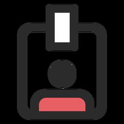 Ícone de crachá de acesso
