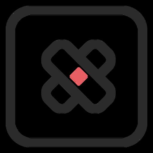 Adhesive bandage colored stroke icon