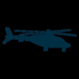 Silueta de helicóptero agusta