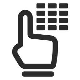 Ícone de traço de código de alarme
