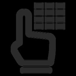 Icono de trazo de código de alarma